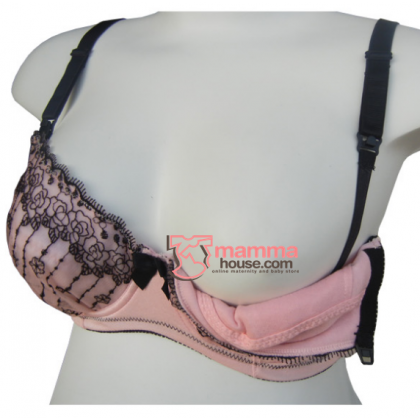 T Nursing Bra - Lace Pink Japan (38/85B,C,D)