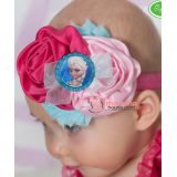 Baby Headband - Elsa Pink & Blue
