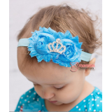 Baby Headband - Elsa Blue Crown