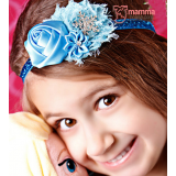 Baby Headband - Elsa Rose Diamond Blue