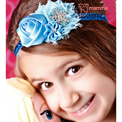 Baby Headband - Elsa Rose Diamond Blue