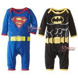 Baby Clothes - Romper Long Superman or Batman