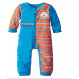 Baby Clothes - Romper Long Monkey Blue