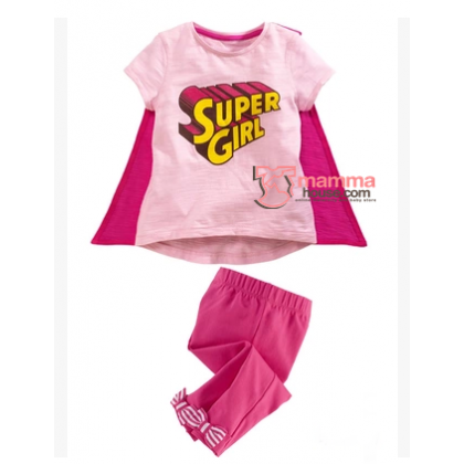 Baby Clothes - 2 pcs Super Girl