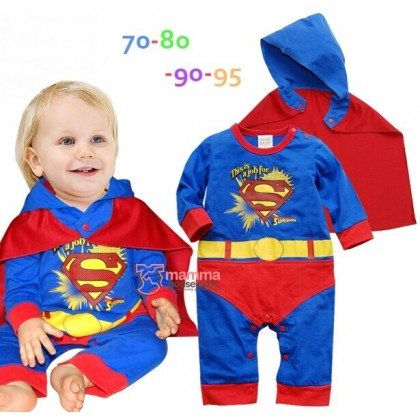 Baby Clothes - 2 pcs Superman (with Hat Cloak)