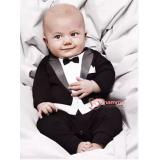 Baby Clothes - Romper Gentleman Romper Black
