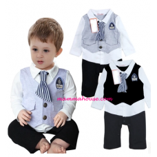 Baby Clothes - Romper Long Tie (2 colors)