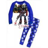 Baby Pajamas - Transformer Cool Blue White