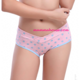 Maternity Panties - Low Waist Polka Pink