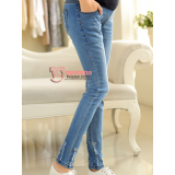 Maternity Jeans - Silver Heart Light Blue