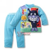 Baby Pajamas - Anpanman Cotton Blue
