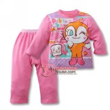 Baby Pajamas - Anpanman Cotton Pink