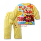 Baby Pajamas - Anpanman Cotton Yellow