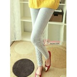 Long Legging - Long Rose Lace Grey