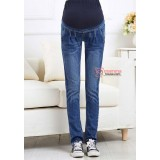 Maternity Jeans - Front Fold Blue