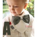 Baby Bib - Cotton Bowtie (3 colors)