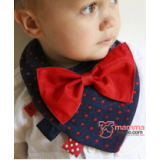 Baby Bib - Cotton Tie (2 colors)