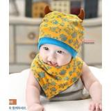 Baby Bib & Hat Set - Monster Yellow