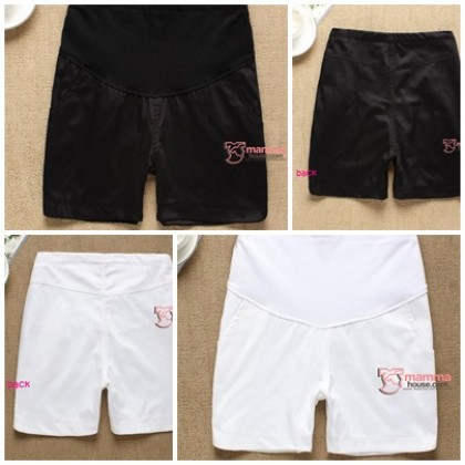 Maternity Shorts - KR Vogue White or Black