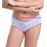 Maternity Panties - Low Waist Polka Blue