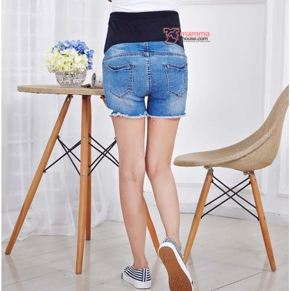 Maternity Shorts - Edge Lace Jeans