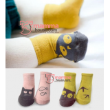 Baby Socks - Korean Cute (pink or yellow)