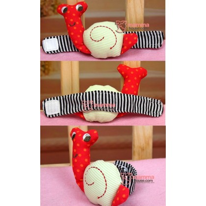 Baby Rattles - Red Snail