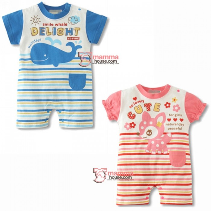 Baby Clothes Romper Whale Or Deer