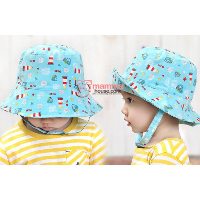 baby hat cool blue rocket