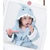 Baby Bathrobe - Cute Shark