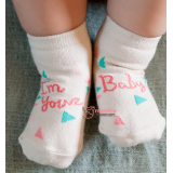 Baby Socks - Korean Your Baby Pink