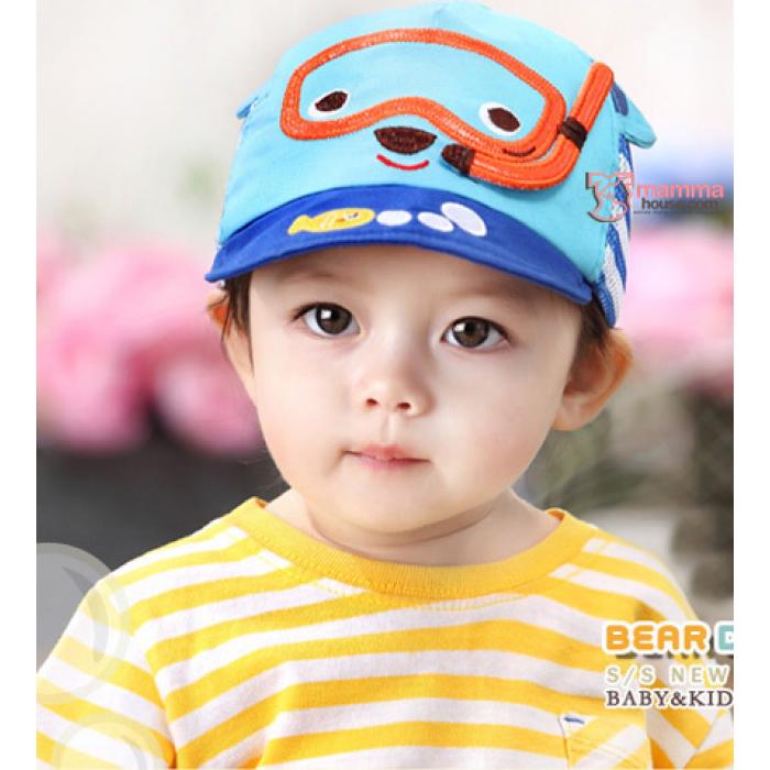 Baby Cap - Mesh Bear Blue 3aa0ce367