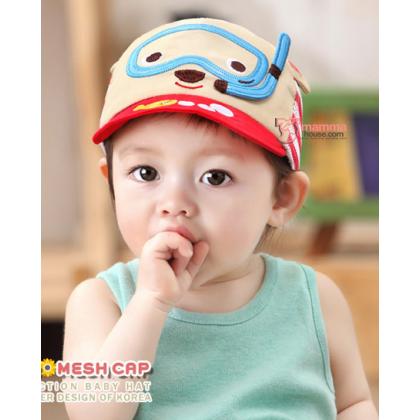 Baby Cap - Mesh Bear Beige