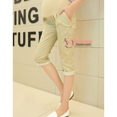 7 Pants - Korean Lace Khaki 7 maternity pants