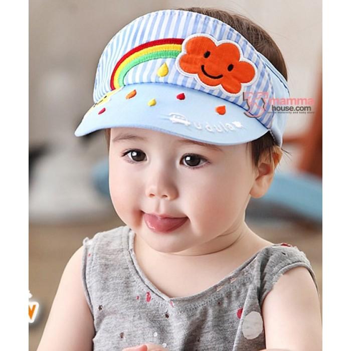 Baby Cap - Cotton Rainbow Sky Blue 5fe718f4a