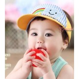 Baby Cap - Cotton Rainbow Yellow