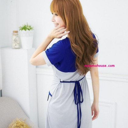 Nursing Dress - Forge Pocket Blue