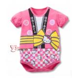 Baby Clothes - Romper Kimono Kitty Pink