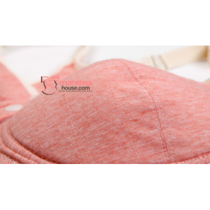 X Nursing Bra - Cross Back Sweet Pink