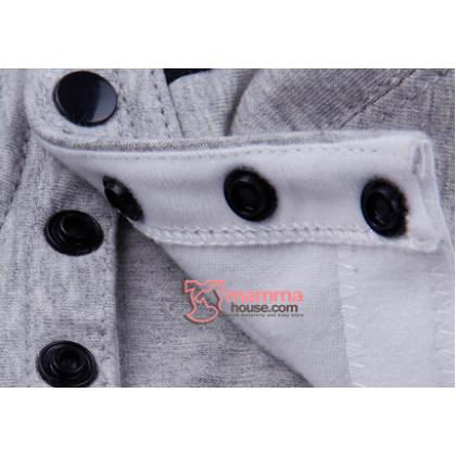 X Nursing Bra - Cross Back Grey Black