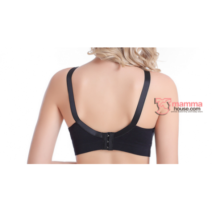 T Nursing Bra - Seamless Smooth Black #