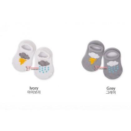 Baby Socks - Korean Boat Ivory or Grey
