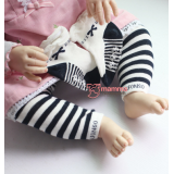 Baby Hose Set - Alfon Stripe Black (hose with socks)