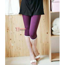 Maternity Legging - White Lace Purple