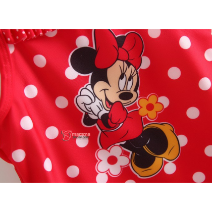 Baby Swimming Suit - Polka Red Minnie