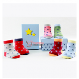 Baby Socks - Star Mixed (6 colors)