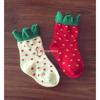 Baby Socks - Korean Stawberry (for 2 pairs)