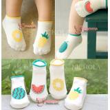 Baby Socks - Korean Mixed (Watermelon or Pineapple)
