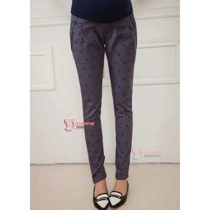 Maternity Pants - Long Cat Grey Blue