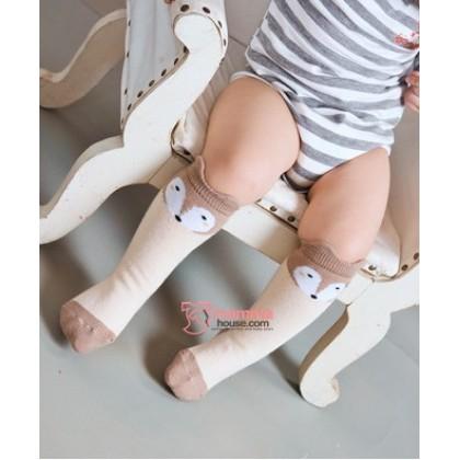 Baby Socks - Korean Wolf Mixed Almond